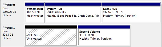 Detected drives are shown in Disk Manager